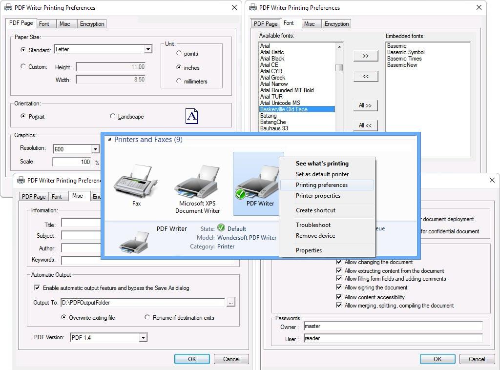 PDF Writer for Windows Server 2022